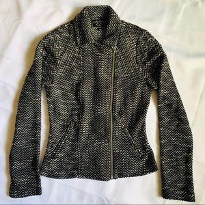 Lucky Brand Tweed Moto jacket XS 100% cotton EUC